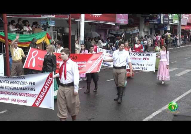 Festejos Farroupilhas de NH 2011 »  Desfile Temático »  CTG Porteira Velha