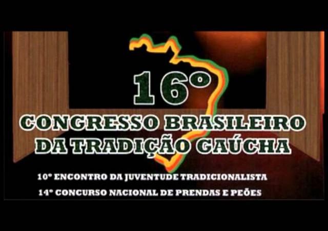16º Congresso Brasileiro da Tradição Gaúcha »  Folder