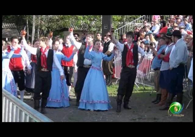 Acendimento da Chama Crioula 2012 »  Venâncio Aires » Teatro do processamento da erva mate