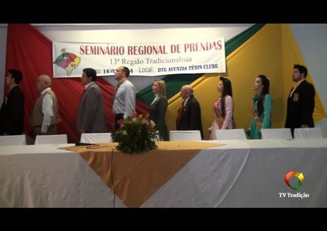 Seminário de Prendas da 13ª RT - Abertura