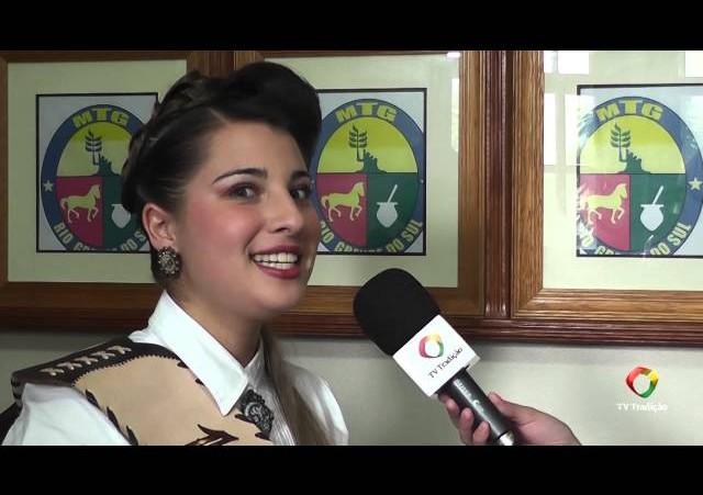 Entrevista - Caroline Lemos - 1ª Prenda do RS 2014/2015