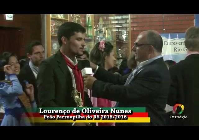 27º Entrevero - Entrevista - Lourenço de Oliveira Nunes