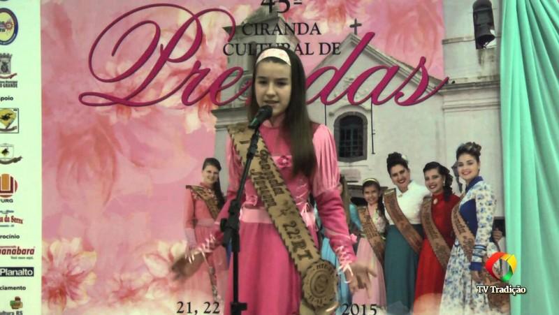 45ª Ciranda Cultural de Prendas - Maria Eduarda Buhler - 22ªRT - Artística - Mirim