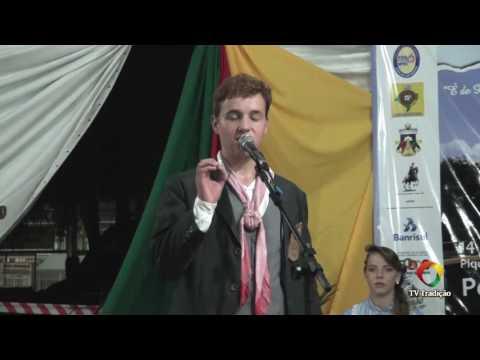 Emerson Lucas Brocardo - 5ªRT - Guri - Prova oral e artística - 28º Entrevero Cultural de Peões