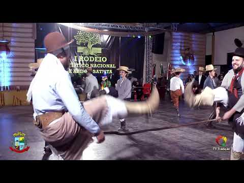 CTG Os Carreteiros - Danças Birivas - 1º Rodeio de Abdon Batista - Sábado