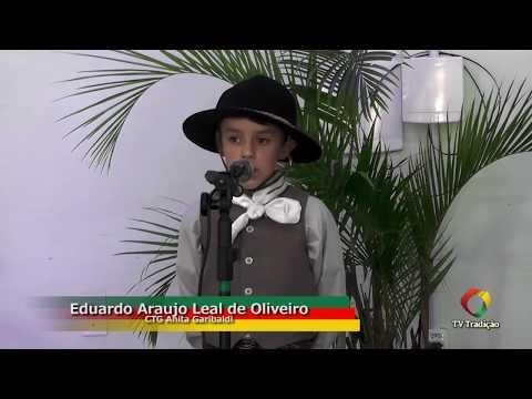 Eduardo Araujo Leal de Oliveiro - Declamação - II Rodeio Artístico Nacional de Abdon Batista